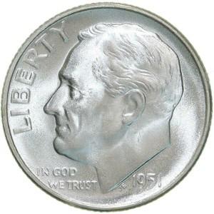 1951 Dime