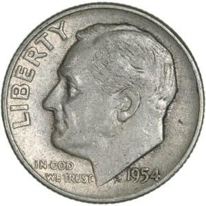 1954 Dime