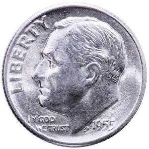 1955 Dime