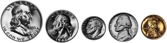 1955 Proof Set Coins