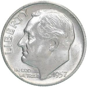 1957 Dime