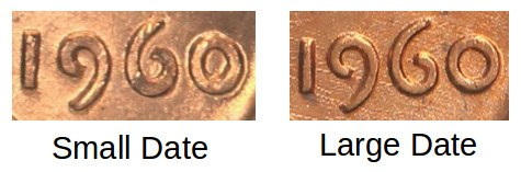 1960 Penny Small Date vs Large Date