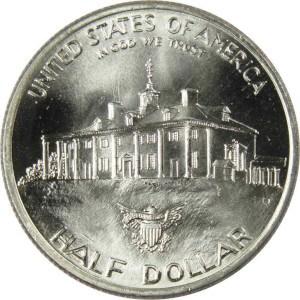 1982 George Washington Half Dollar Reverse