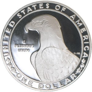 1983 Olympic Silver Dollar Reverse