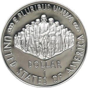 1987 Constitution Silver Dollar Reverse