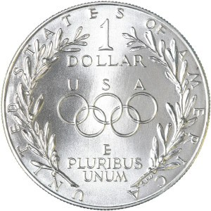 1988 Olympic Silver Dollar Reverse