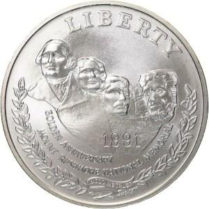 1991 Mount Rushmore Silver Dollar