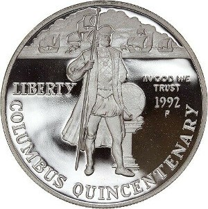 1992 Columbus Quincentenary Silver Dollar