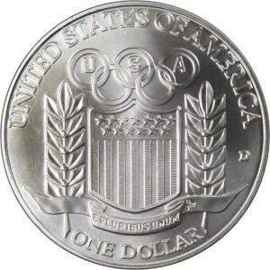 1992 Olympic Silver Dollar Reverse