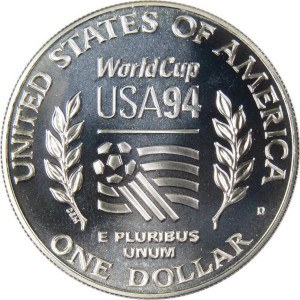 1994 World Cup Silver Dollar Reverse