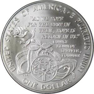 1995 Special Olympics Silver Dollar Reverse