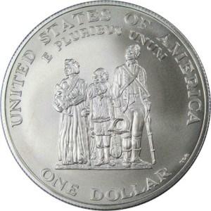 1998 Black Revolutionary War Patriots Silver Dollar Reverse