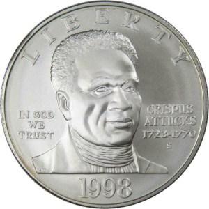 1998 Black Revolutionary War Patriots Silver Dollar