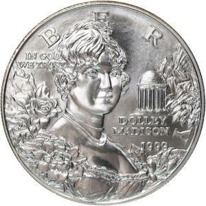 1999 Dolley Madison Silver Dollar