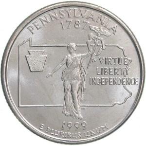 1999 Pennsylvania Quarter