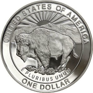 1999 Yellowstone Silver Dollar Reverse