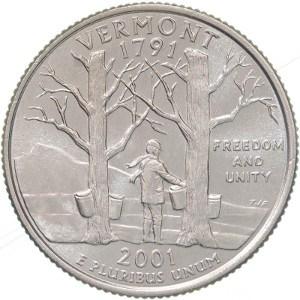 2001 Vermont Quarter