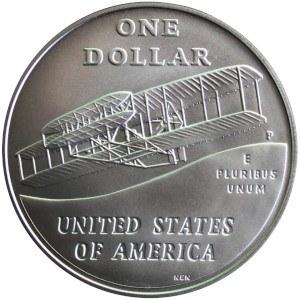 2003 First Flight Centennial Silver Dollar Reverse