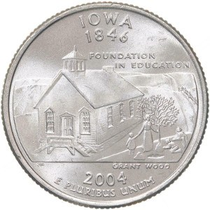 2004 S Clad Proof Iowa State Quarter Choice Uncirculated US Mint