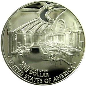 2005 Chief Justice John Marshall Silver Dollar Reverse