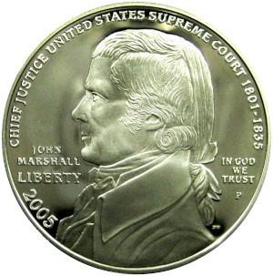 2005 Chief Justice John Marshall Silver Dollar