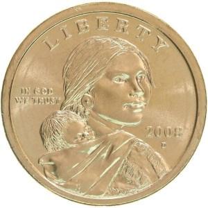 2008 Sacagawea Dollar Coin