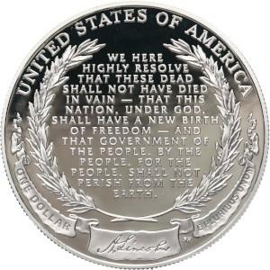 2009 Abraham Lincoln Silver Dollar Reverse