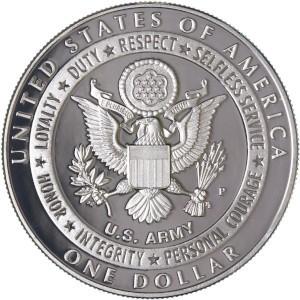 2011 Army Silver Dollar Reverse