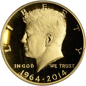 2014 Gold Kennedy Half Dollar