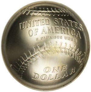 2014 National Baseball Hall of Fame Silver Dollar Reverse