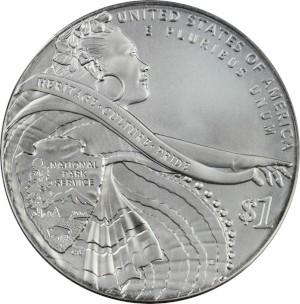 2016 National Park Service Silver Dollar Reverse