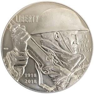 2018 World War I Centennial Silver Dollar