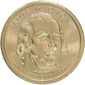 James Madison Dollar Coin