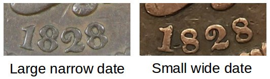 Large Narrow Date vs Small Wide Date