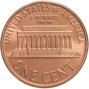 Lincoln Memorial Penny Reverse