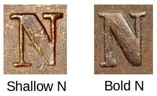 Shallow N vs Bold N